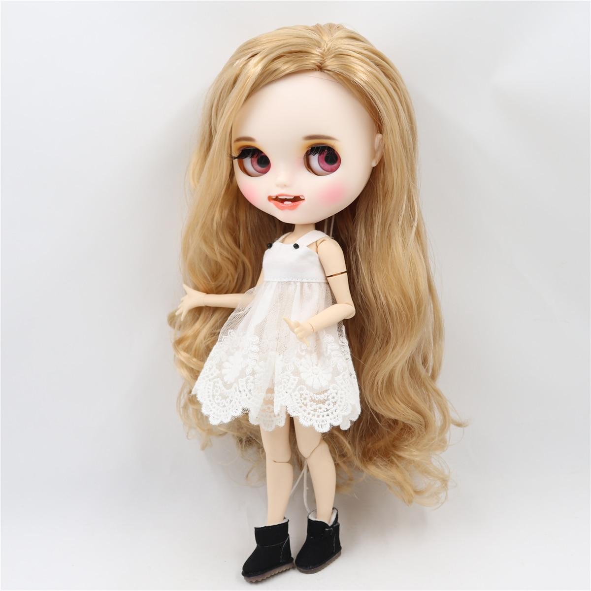 ICY fabryka blyth doll 1/6 bjd biała skóra wspólne ciało złote włosy korzystając z łączy z boku rozstał się, nowy matowy twarzy z zębami, 30 cm BL3227/2240 w Lalki od Zabawki i hobby na  Grupa 3