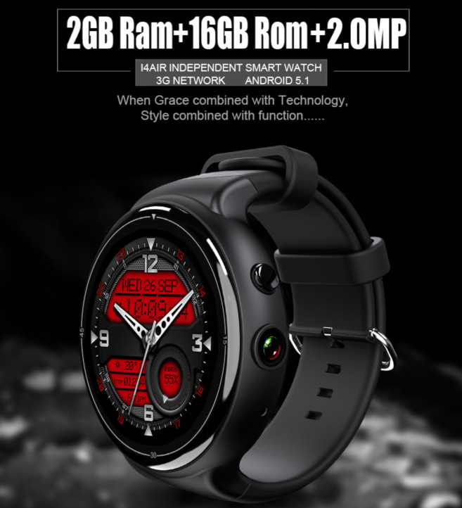 Smart Watch Android 5.1 SmartwatchI4Air Smart Watch 2G + 16G Thin Screen 3G Mobile Phone Wifi Heart Rate Payment GPS Camera Benz smart phone watch 3g 2g wifi zeblaze blitz camera browser heart rate monitoring android 5 1 smart watch gps camera sim card