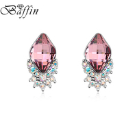 BAFFIN Fashion Crystals From SWAROVSKI Stud Earrings For Women Korean Style Piercing Jewelry For Party Office