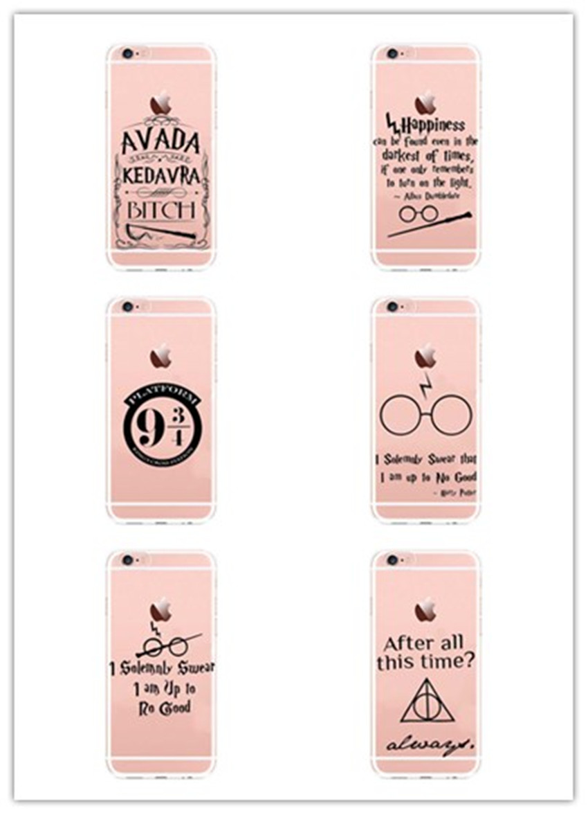 harry potter case for iphone 6 6s 5s se 7 7plus 6plus 6splus soft silicone tpu phone back cover. Black Bedroom Furniture Sets. Home Design Ideas