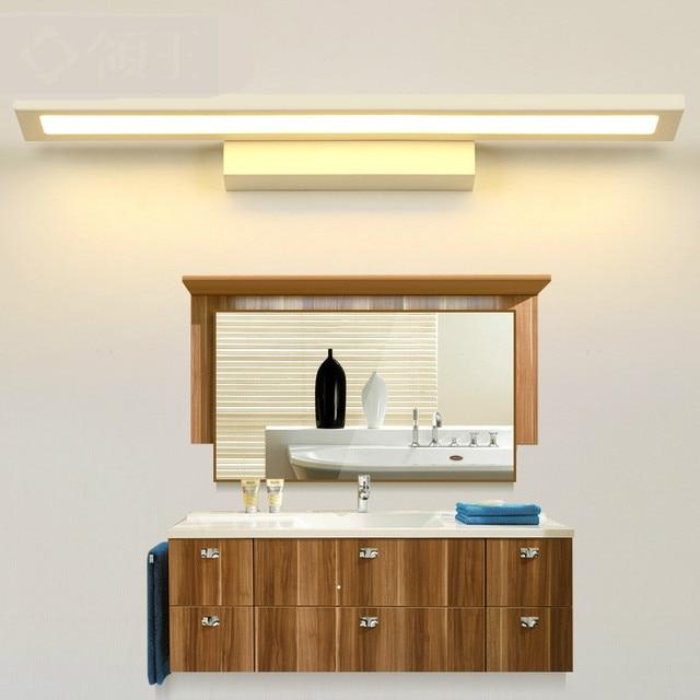 Moderne Einfache Wasserdichte Helle Acryl Aluminium Led Spiegelleuchte Für Badezimmer  Wandleuchte 40/60 Cm Ac
