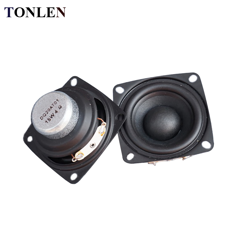 2pcs 2 inch Full Range Portable <font><b>Speaker</b></font> Sound Bar 4 ohm 8 ohm <font><b>15W</b></font> Outdoor <font><b>Speakers</b></font> DIY HiFi Boombox Home Theater 5.1 Loudspeaker image