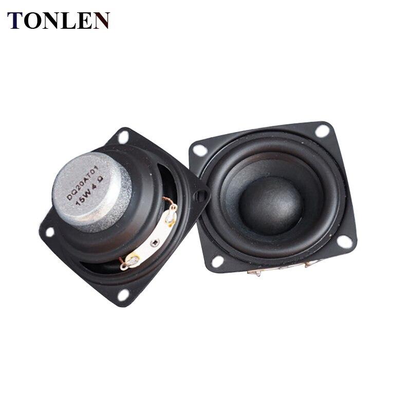 TONLEN 2Pcs 2Inch Full Range Speaker 4ohm 8ohm 15W Speaker Subwoofer Tweeter HIFI Music FM Radio Home Video System Speaker