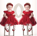 New Flower Girl Party Pageant Christening Dress with Headband Outfits Clothes