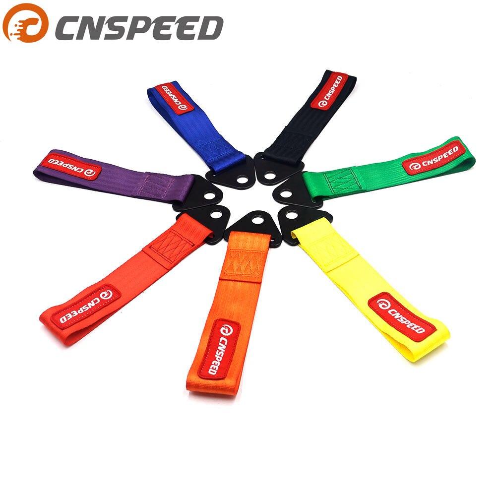 CNSPEED pasek holowniczy wysokiej jakości samochód wyścigowy pasek holowniczy liny holownicze haki holownicze bez śruby i nakrętki YC101109