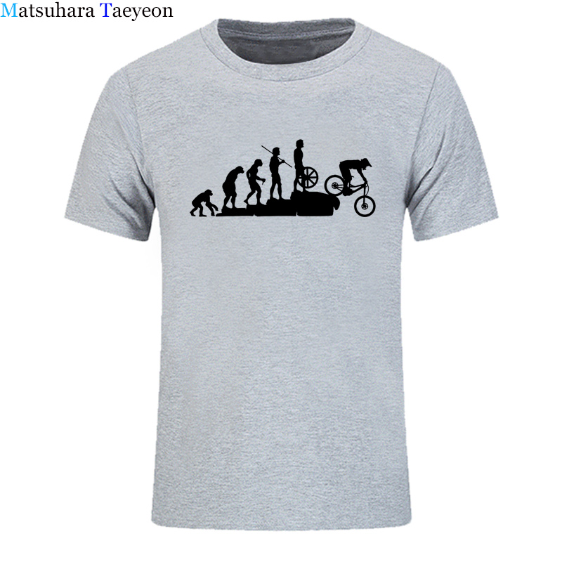 Mountain Biking Downhill Summer funny tshirt T Shirt Men Punk Tops Hipster Cotton Bicycle T-Shirt Summer Casual Short Sleeve