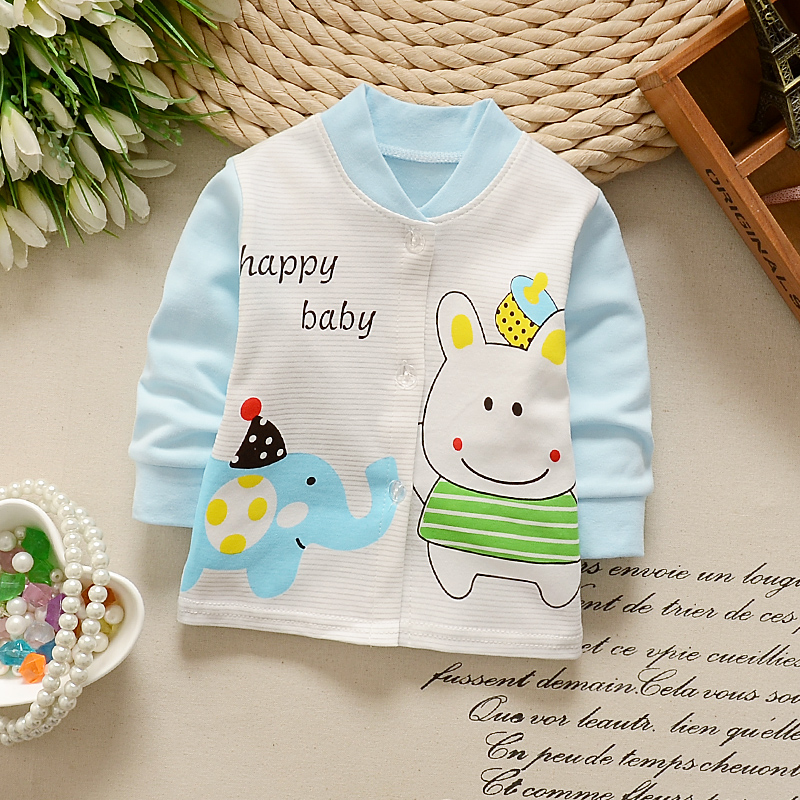 Newborn Jackets Spring Autumn Casual Girls Boy Coat Cotton Top Clothing Children Outwear Coats 0-24 month Baby Clothes Coat
