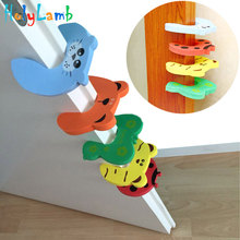 5Pcs/Lot Protection Baby Safety Cute Animal Security Card Door Stopper Newborn Care Child Lock From Children
