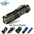 Mini Zoom cree xml l2 Flashlight Led Torch 5 mode 3800 Lumens waterproof 18650 Rechargeable battery Tactical flash light