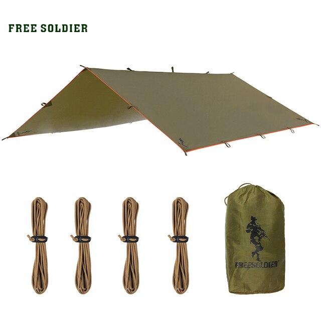 """FREE SOLDIER Многофункциональная складная переносная палатка и дождезащитный тент защиты от солнца """" тот , кто выживает"""""""