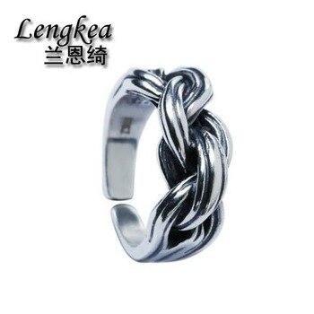 cd634a25636e Anillos para hombre, joyería para mujer, anillo de Plata de Ley 925, anillo  de dedo de apertura retro, anillos para mujer, accesorios para niñas, ...