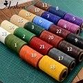 Многоцветная прочная плоская вощеная нить 240 метров 1 мм 150D, шнур для DIY, инструмент для рукоделия, ручная строчка, нить высокого качества