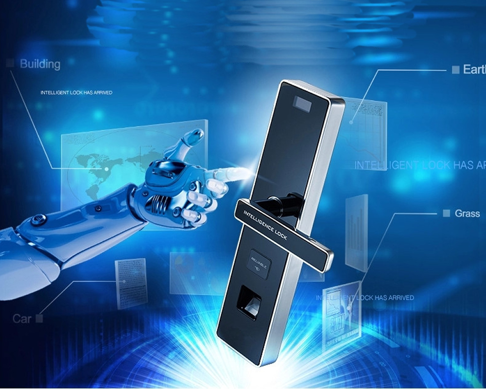 Biometric fingerprint touchscreen password entrance anti-theft door lock electronic smart locks