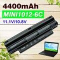 4400 mah batería del ordenador portátil para dell para inspiron mini 1012 1018 serie 2t6k2 312-0966 312-0967 3k4t8 cmp3d g9px2 nj644 854tj 8py7n
