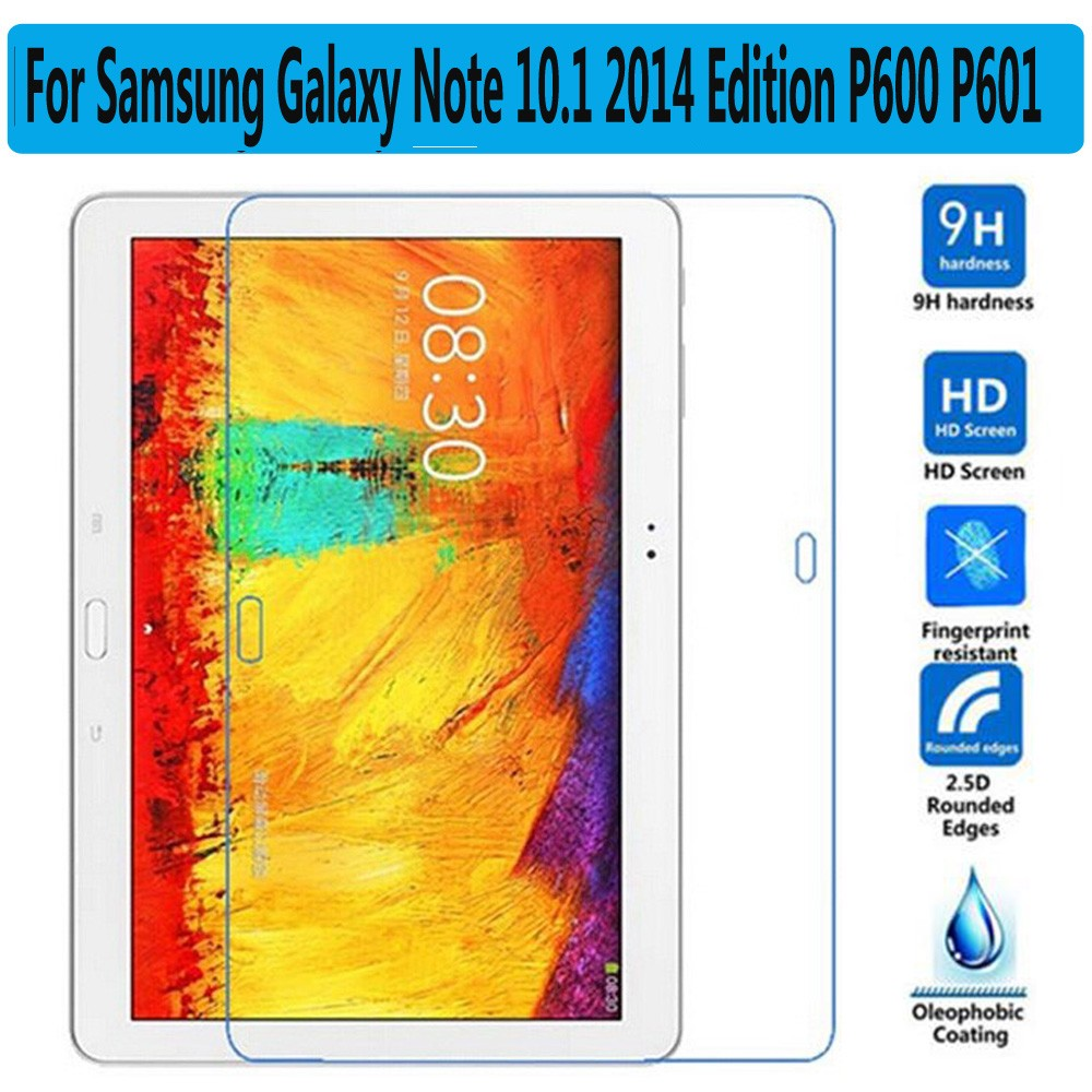 Premium Tempered Glass for Samsung Galaxy Note 10.1 P600 P601 P605 Screen Protector for Samsung Galaxy Note 10.1 2014 Edition