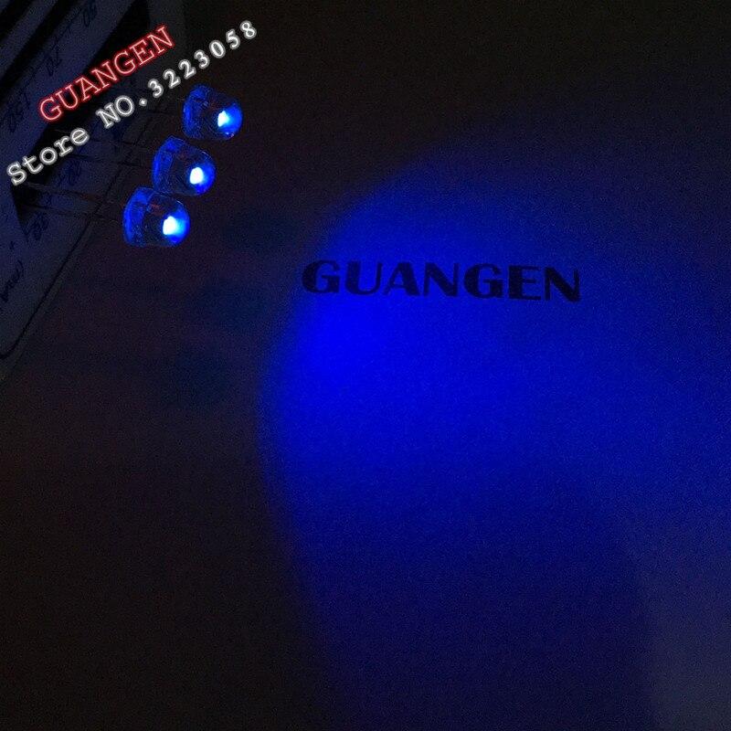 100pcs 5mm Straw Hat UV Purple Light Wide Angle Ultraviolet 395nm - 400nm Transparent 5 mm 20mA 3V Light-Emitting Diode LED Lamp