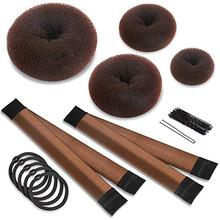 31 Pcs Wholesale Hair Bun Shaper Set with 4 Donut Maker 2 Magic French Twist Hairstyle Clip Rollers 20pcs Pins