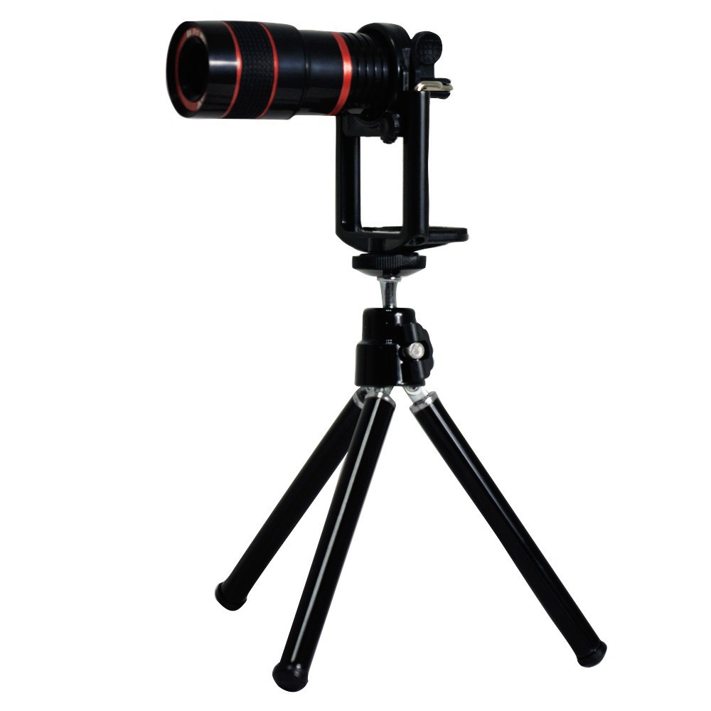 For iphone 4 4s lens kit and wallet , wide angle fisheye 2x telephone lens 8x zoom lens tripod and case 2cl-24 (16)