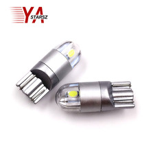 New Car Styling W5W LED 1x T10 3030 2SMD Auto Lamps 168 194 Bulb Plate Light Parking Fog Light Auto Univera Cars Light