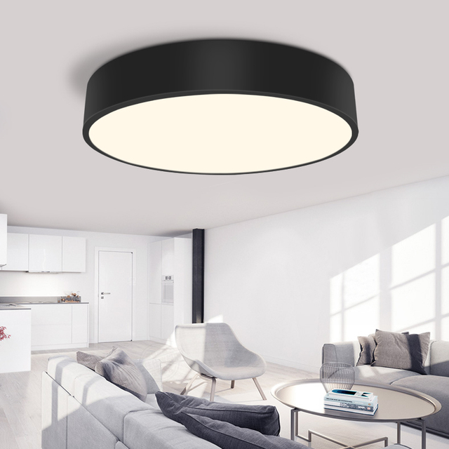 Modern Led Ceiling Light Round Simple Decoration Fixtures Study Diningroom Balcony Bedroom Living Room Lamp