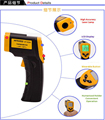 DT-8380 Laser LCD Digital Infrared Thermometer Temperature Meter Gun Point -50~380 Degree Non-Contact Electronic IR Termometer