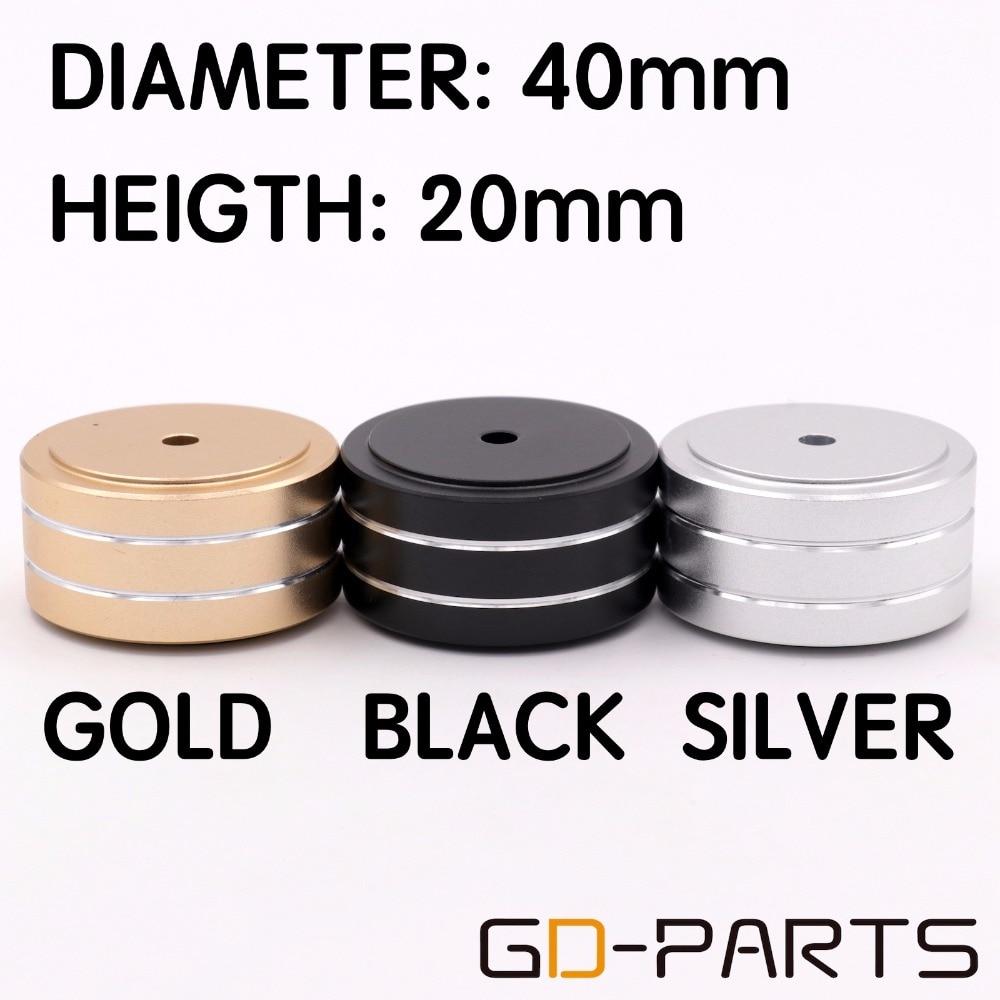 4PCS Black Full Aluminum AMP Feet Vibration Cone Speaker Machine DAC Feet Stand