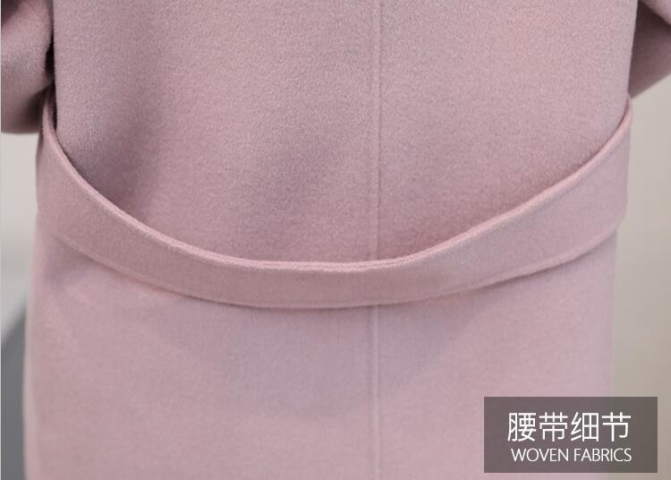 Nueva Otoño Moda Parka rosado Ropa Invierno E Abrigo Lana 2019 Mujeres Slim De menta Oaired Las Marrón Largo Femenina EwCqYY