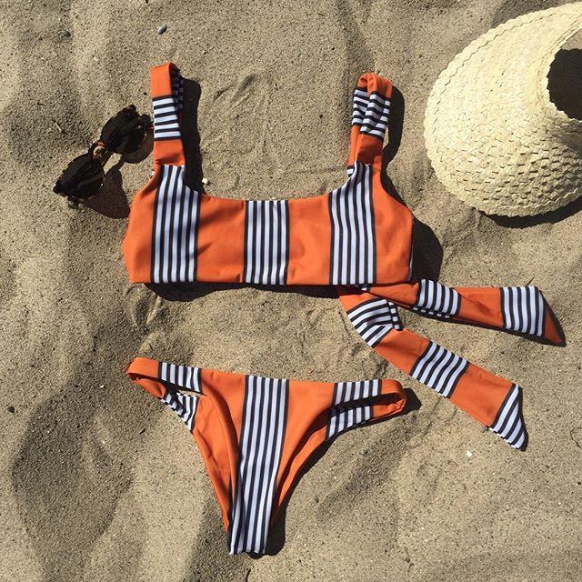 2018 Bikini New Doubledeck flouncing Swimsuit plus bathing suit sexy women High waist swiming suits Off Shoulder Swimwear H1456
