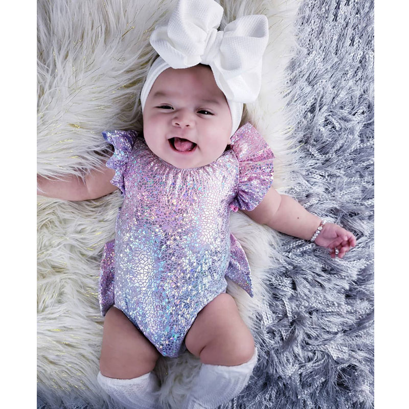 2019 Baby Girl Elastic Xmas Princess One-piece Outfit Garment Bow Costume Kids Baby Girls Romper Playsuit Sunsuit 0-24M