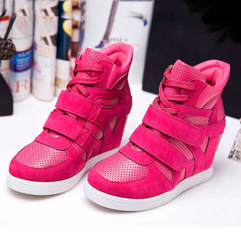 High Quality Invisible Wedges Women Sneakers Female Ankle Boots High Heels Fashion Sport Shoes Leisure Women's Boots WSH335