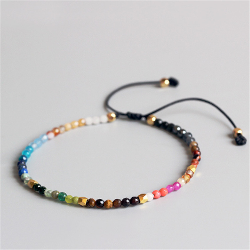 Vente chaude 12 Constellation Chanceux Pierre Bracelets Bracelets 3mm cristal perles meilleur ami Cadeaux Bracelet amateurs Hollywood Bracelets