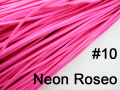 10pcs 3mmx1.5mm Neon Roseo Flat Faux Suede Velvet Leather Cord -1M/pcs NCS27-10