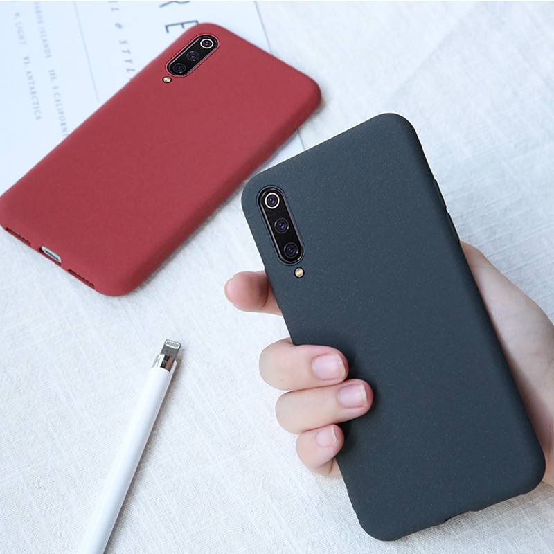 Matte Solid Color Cover Phone Cases For Xiaomi Redmi Note Mi 9 9SE 8 8SE Lite 7 6 6A 5 Pro 6X 5X A1 A2 Soft TPU Silicone Capa in Fitted Cases from Cellphones Telecommunications
