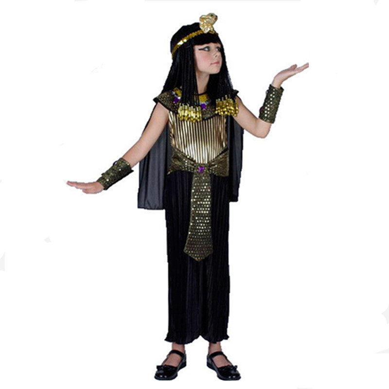 Boys Kids Egypt Princess Costumes Cosplay Halloween Party Egyptian pharaoh Cleopatra Royal Dress in Boys Costumes from Novelty Special Use