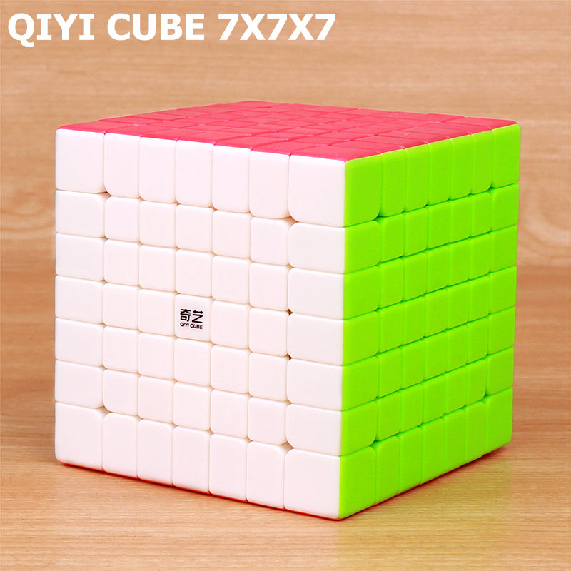 QIYI qixing s 7x7x7 magic speed cube stickerless professional puzzle cubes Brain Teaser Adult turning smoothly toys for children qiyi qi yuan s 4x4 magic cube competition speed puzzle cubes toys for children kids cubo stickerless matte cube