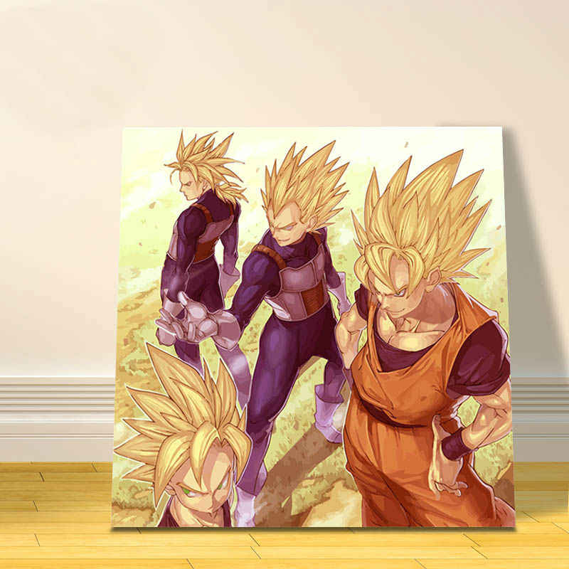 digital paint by numbers Dragon Ball modular painting Japan cartoon pictures oil painting by numbers gift for kids anime posters