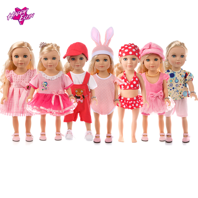 8 Colors Princess Dress Doll Clothes for 18 inch Dolls American Journey  Girls Doll Clothes Accessories for baby Birthday gift 4850ab023