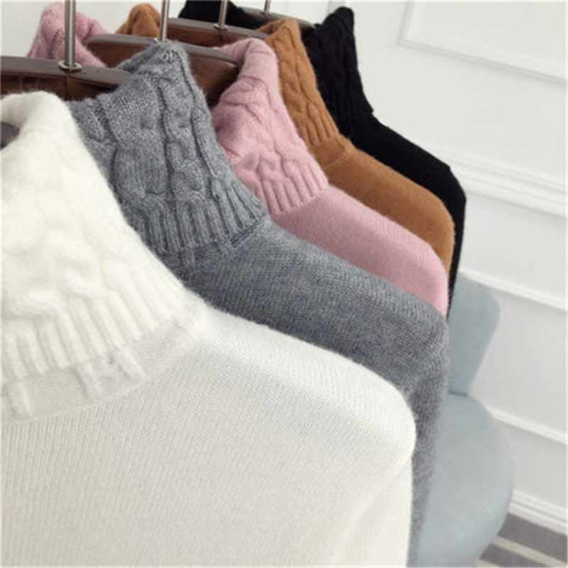 2018 New Turtleneck Winter Sweater Women  Long Sleeve Knitted Women Sweaters And Pullovers Women's Jumper Tricot Tops 522