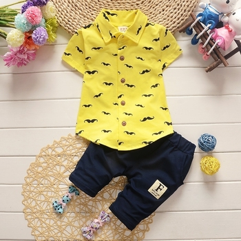 Newborn Fashion Clothing Set For Baby Boy T-Shirt + Casual infants Shorts