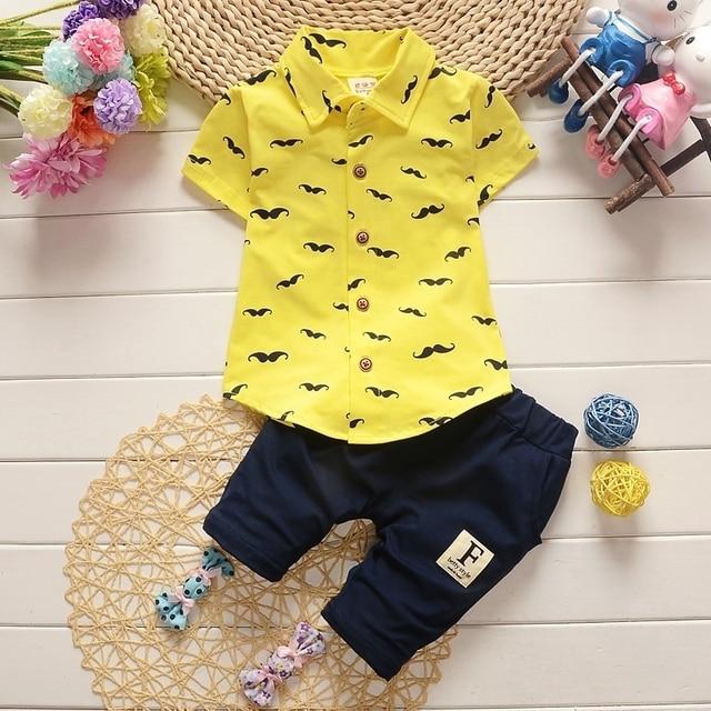 Newborn Fashion Clothing Set For Baby Boy T-Shirt + Casual infants Shorts
