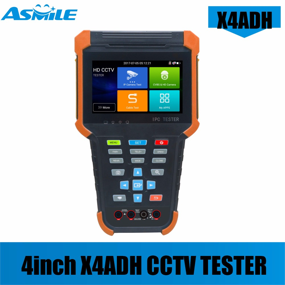 New Arrival X4 Series Cctv Camera Tester Built In WIFI New Battery Design With RJ45 Cable TDR Test