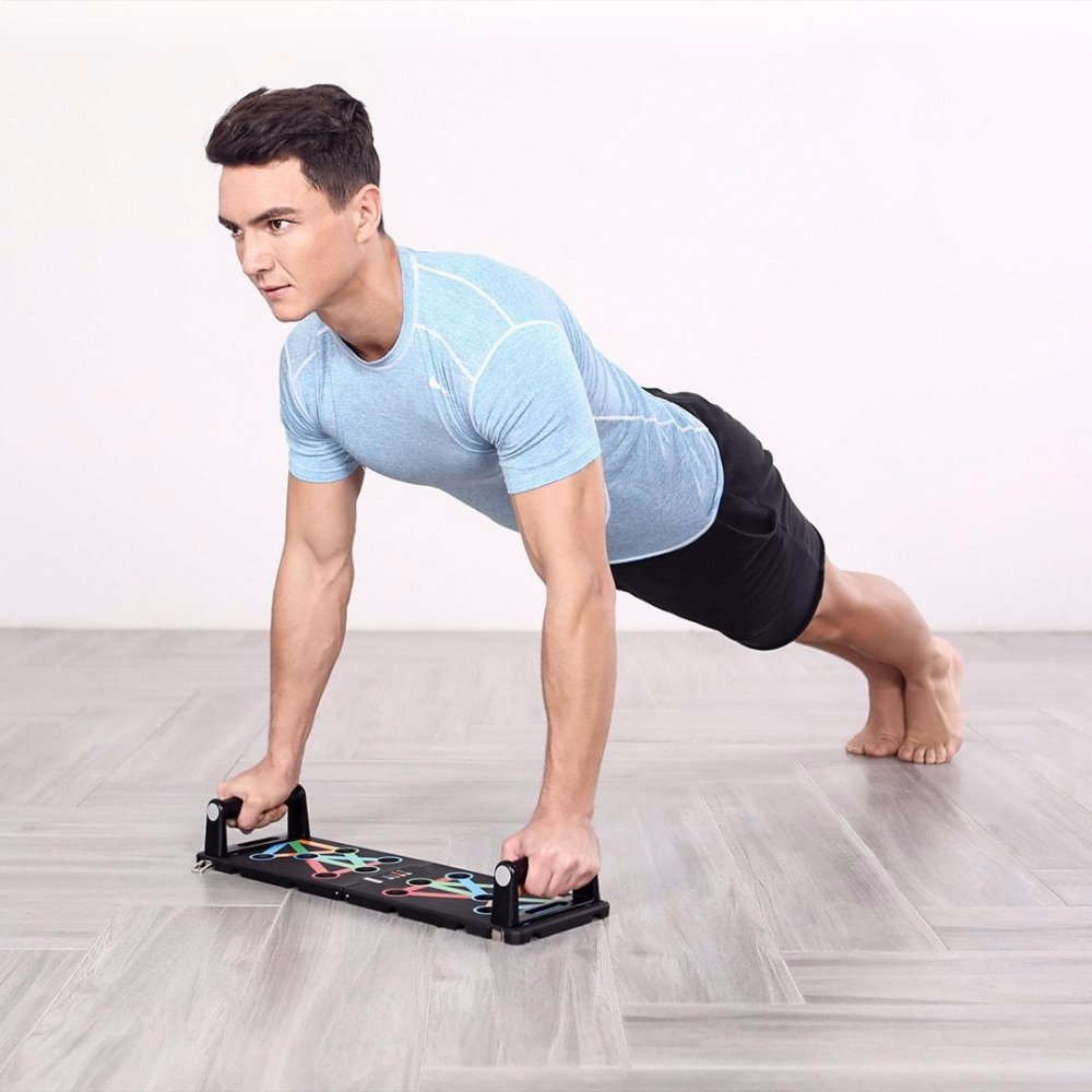Image 3 - HOT In Stock Original Xiaomi Mjia Yunmai Protable Push up Support  Board Training System Power Press Push Up Stands Exercise ToolSmart  Remote Control