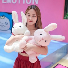 Lovely 35cm-60cm Soft Pink/White Rabbit Plush Toy Cute Cartoon Animal Bunny Stuffed Doll Baby Sleeping Girlfriend Christmas Gift fancytrader large plush bunny doll lovely soft stuffed cartoon rabbit kids toys gifts pink purple for chilren 100cm