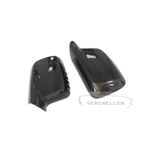 E66 TOP PU Protect Carbon fiber side view Mirror Caps Replacement OEM Fitment Side Mirror Cover for BMW 7 series E65 E66 E46