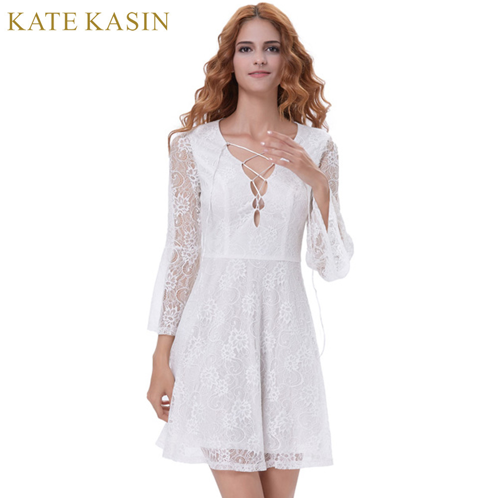 aa634232406 ... 2017 V Neck Lace Prom Dresses Girls White Bride Formal Party Gowns  Vestido de Festa. 32% Off. 🔍 Previous