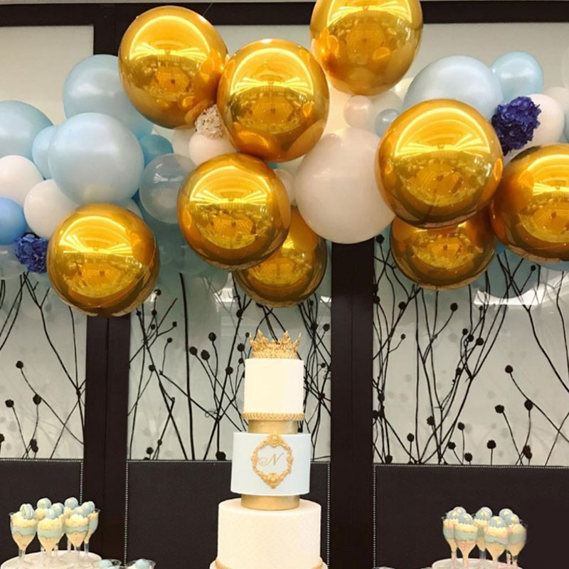 Ev ve Bahçe'ten Balonlar ve Aksesuarları'de 50 adet Renkli 22 Inç 4D Alüminyum Folyo şişme balonlar Düğün Süslemeleri Bebek Duş Doğum Günü Balonları Parti Malzemeleri'da  Grup 3