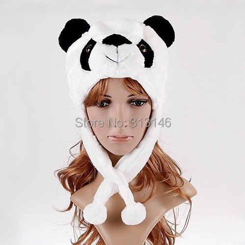 90a8c470a60 Detail Feedback Questions about Cute Plush Animal Panda Cartoon Fuzzy  Beanie Hat Winter Adult Women Men s Children Kids Boys Girls Costume Warm  Fluffy ...