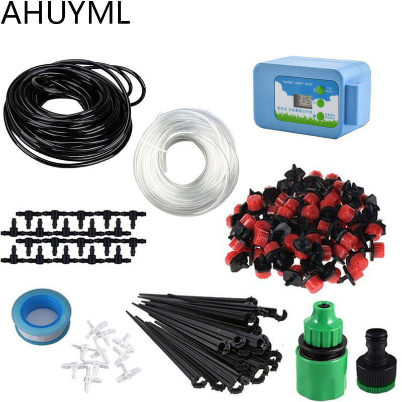 20M Automatic Watering Device Intelligent Controller DIY Micro Drip Irrigation System Water Pump Set Gardening Supplies