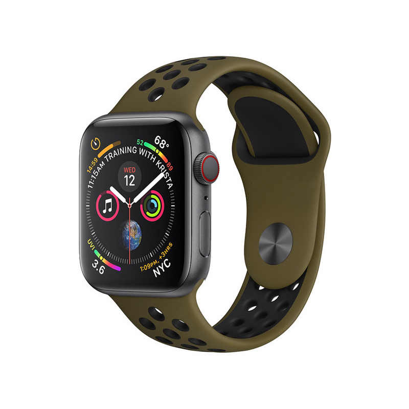 Strap for Apple watch band 42mm 38mm silicone correa iwatch 5 4 3 2 44mm 40mm sport bracelet pulseira apple watch accessories in Watchbands from Watches