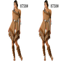 2016 Special Offer Rushed Native American Costume Adult Indian Princess Pocahontas Halloween Fancy Dress Nc 8758